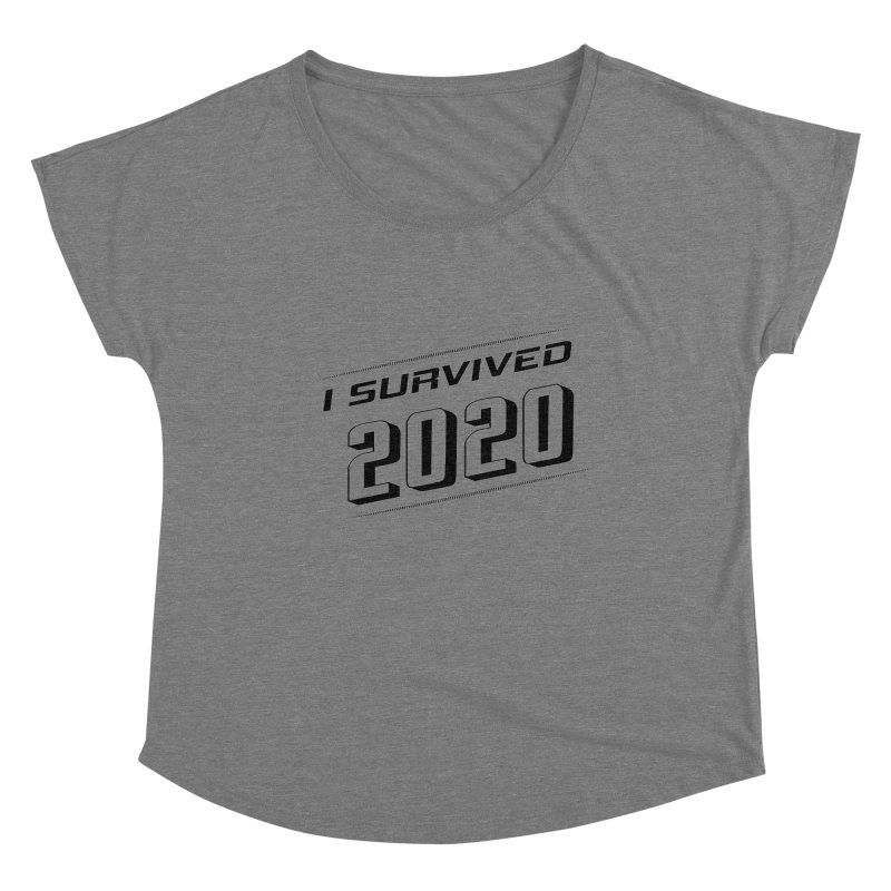 I survived 2020 - Black Women's Scoop Neck by SteampunkEngineer's Shop
