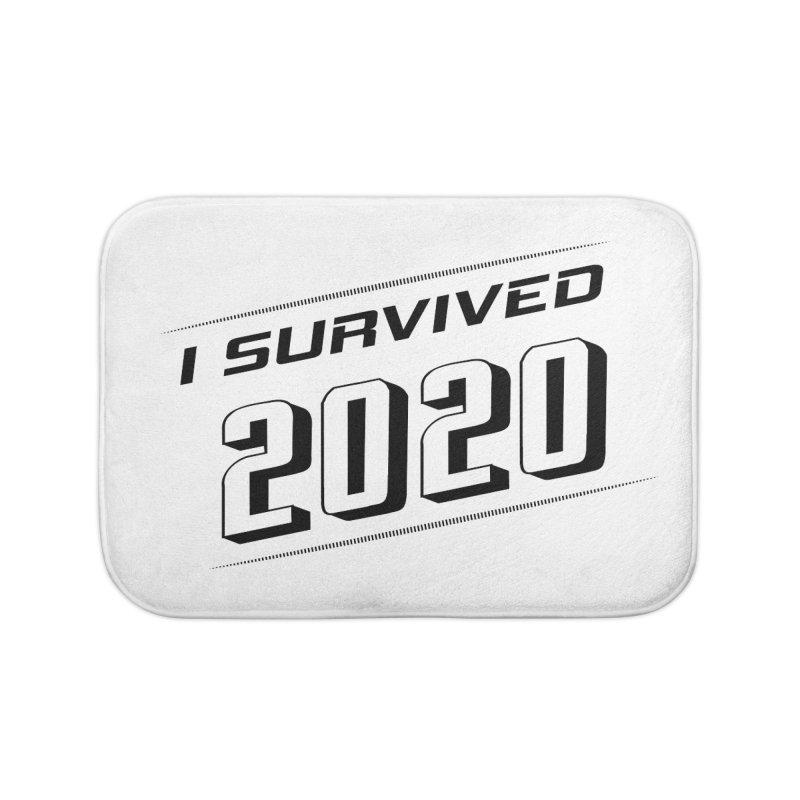 I survived 2020 - Black Home Bath Mat by SteampunkEngineer's Shop