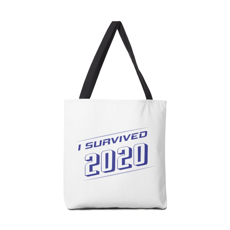 I survived 2020 - Blue Accessories Bag by SteampunkEngineer's Shop