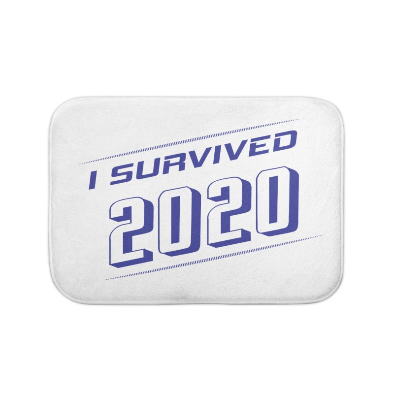 I survived 2020 - Blue Home Bath Mat by SteampunkEngineer's Shop