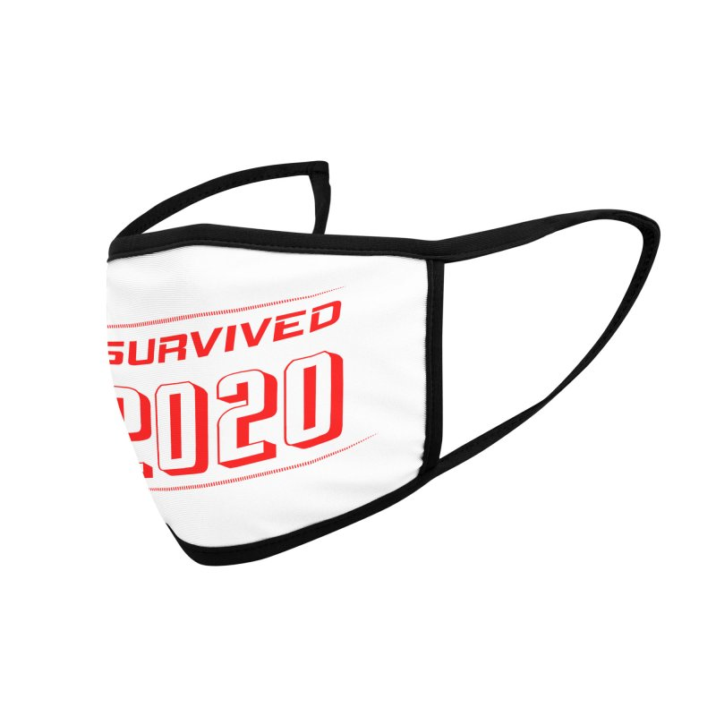 I survived 2020 - Red Accessories Face Mask by SteampunkEngineer's Shop