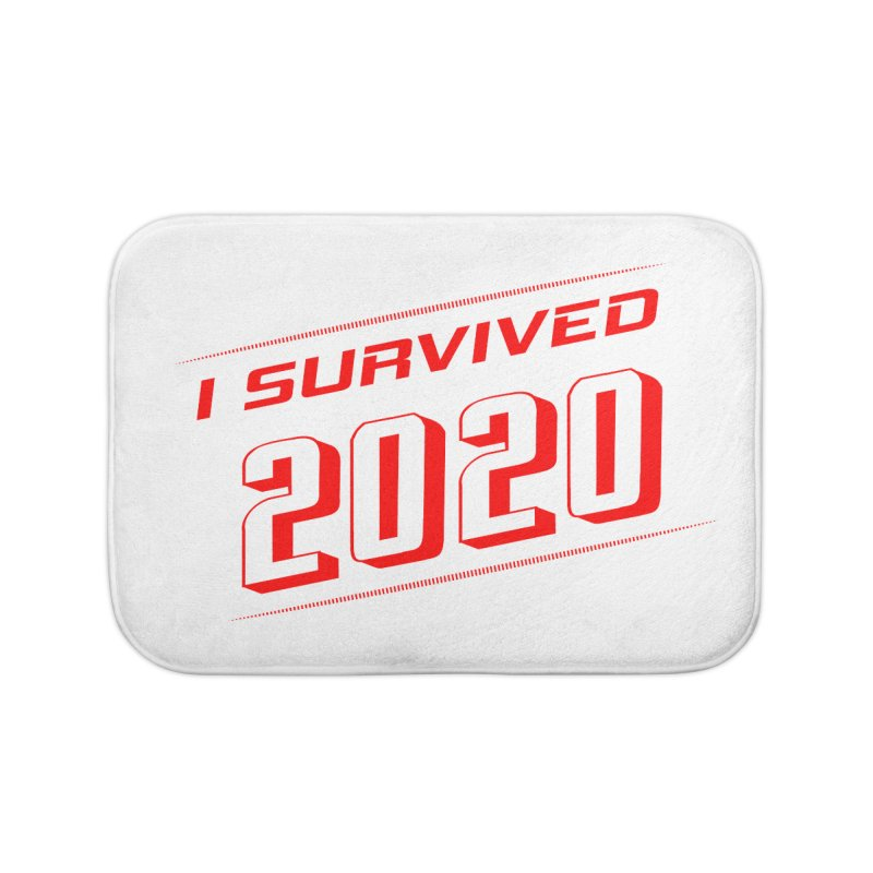 I survived 2020 - Red Home Bath Mat by SteampunkEngineer's Shop