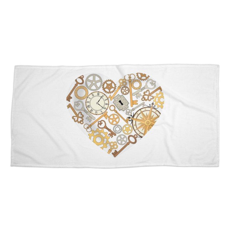 Love of Steampunk Accessories Beach Towel by SteampunkEngineer's Shop
