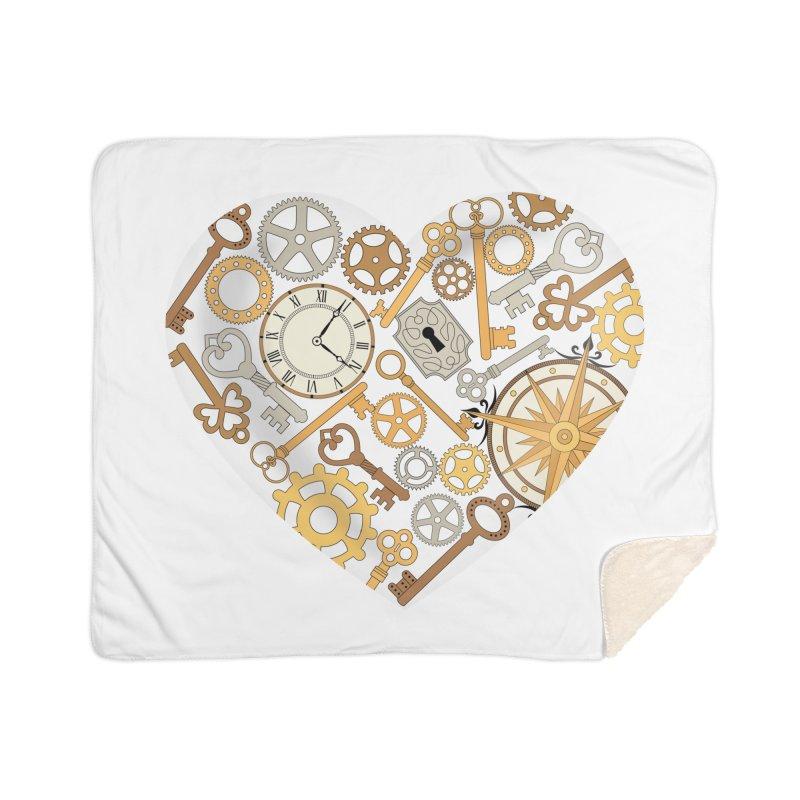 Love of Steampunk Home Sherpa Blanket Blanket by SteampunkEngineer's Shop