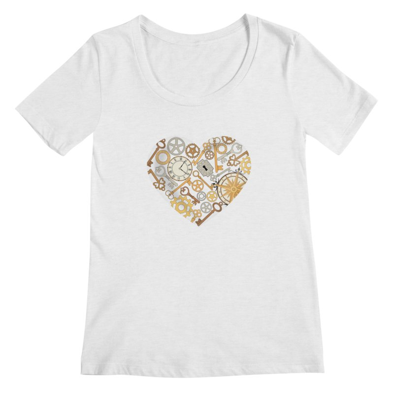 Love of Steampunk Women's Regular Scoop Neck by SteampunkEngineer's Shop