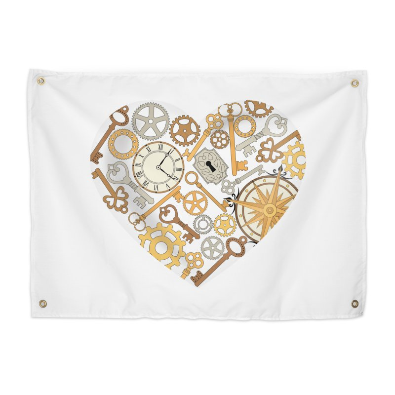 Love of Steampunk Home Tapestry by SteampunkEngineer's Shop