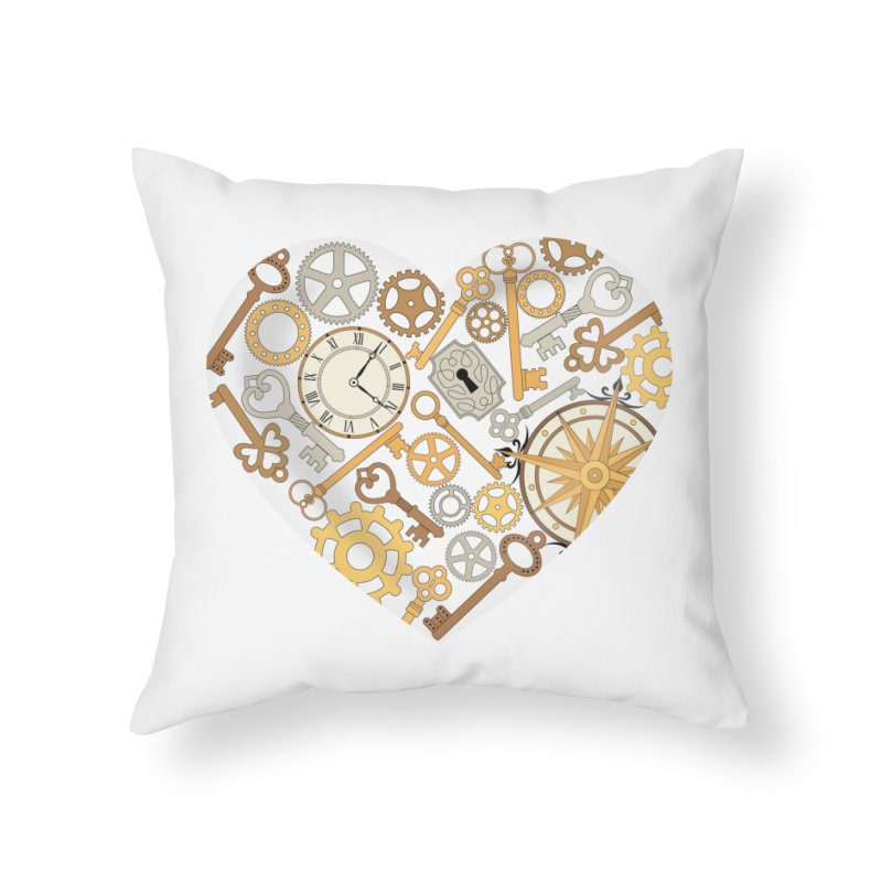 Love of Steampunk Home Throw Pillow by SteampunkEngineer's Shop