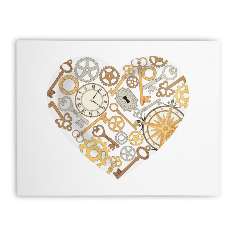 Love of Steampunk Home Stretched Canvas by SteampunkEngineer's Shop