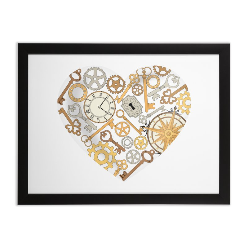 Love of Steampunk Home Framed Fine Art Print by SteampunkEngineer's Shop