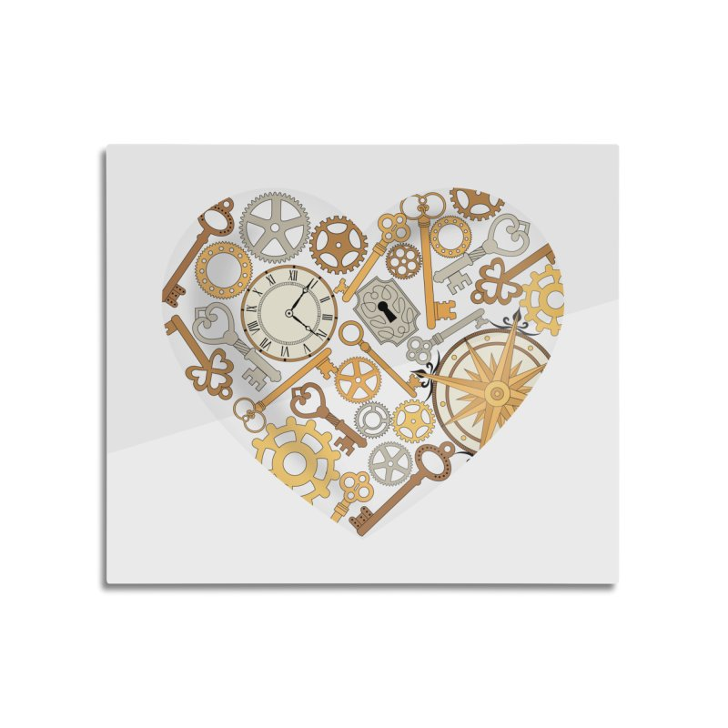 Love of Steampunk Home Mounted Aluminum Print by SteampunkEngineer's Shop