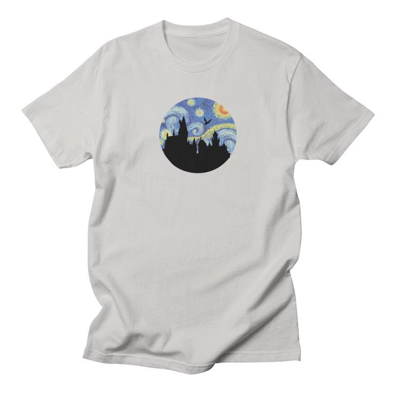 Hogwarts Starry Night Men's T-Shirt by SteampunkEngineer's Shop