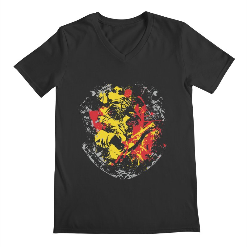 Gryffindor Crest Men's Regular V-Neck by SteampunkEngineer's Shop