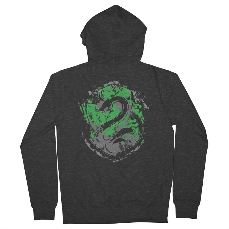 Slytherin's Crest Men's French Terry Zip-Up Hoody by SteampunkEngineer's Shop