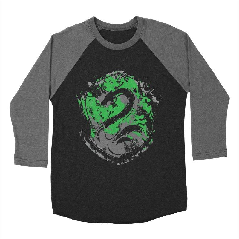 Slytherin's Crest Men's Baseball Triblend Longsleeve T-Shirt by SteampunkEngineer's Shop