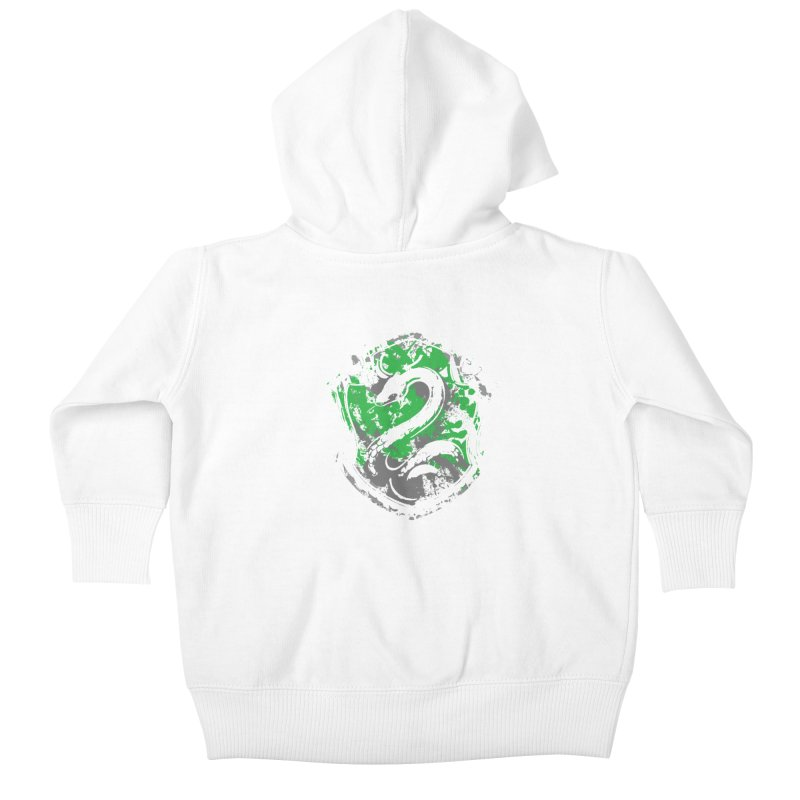 Slytherin's Crest Kids Baby Zip-Up Hoody by SteampunkEngineer's Shop