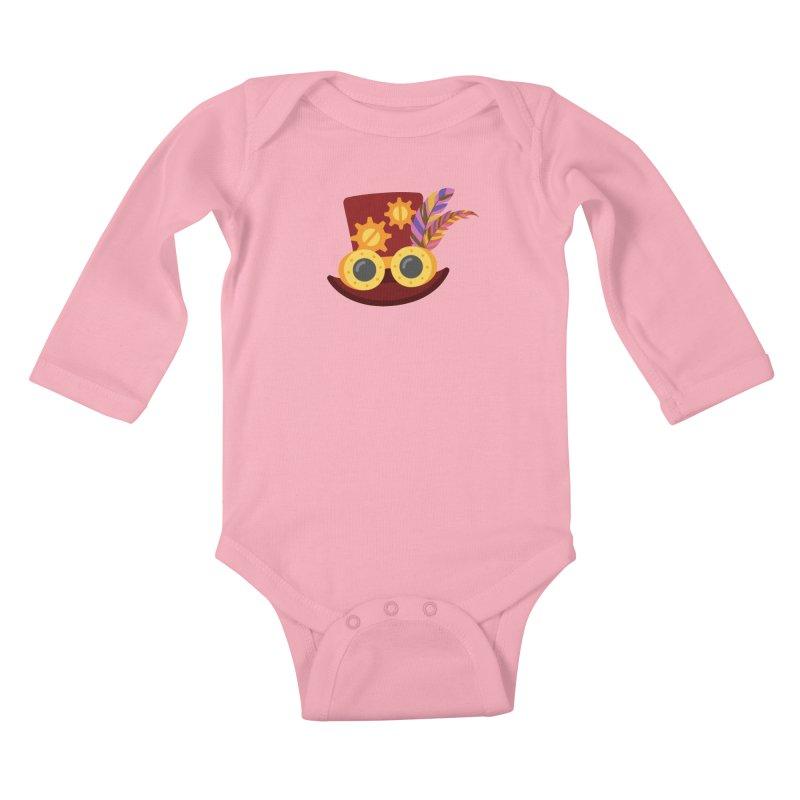 Steampunk Engineer Logo Kids Baby Longsleeve Bodysuit by SteampunkEngineer's Shop