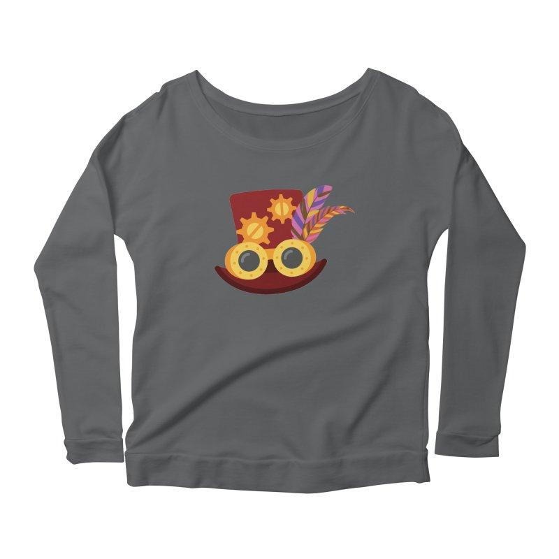 Steampunk Engineer Logo Women's Scoop Neck Longsleeve T-Shirt by SteampunkEngineer's Shop