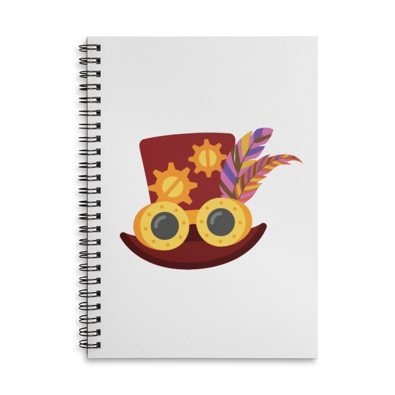 Steampunk Engineer Logo Accessories Lined Spiral Notebook by SteampunkEngineer's Shop