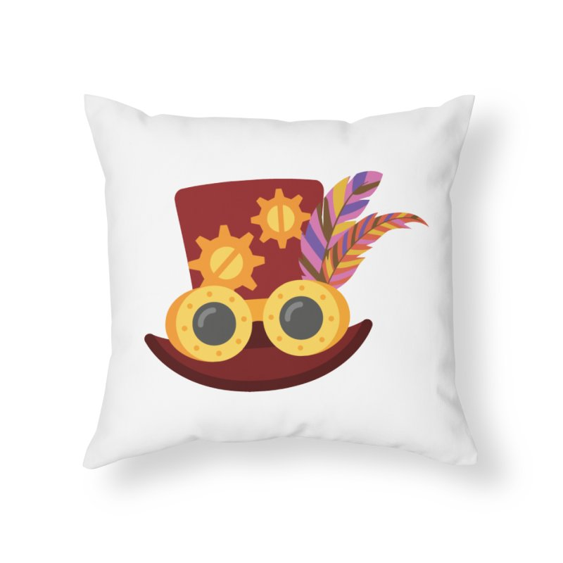 Steampunk Engineer Logo Home Throw Pillow by SteampunkEngineer's Shop