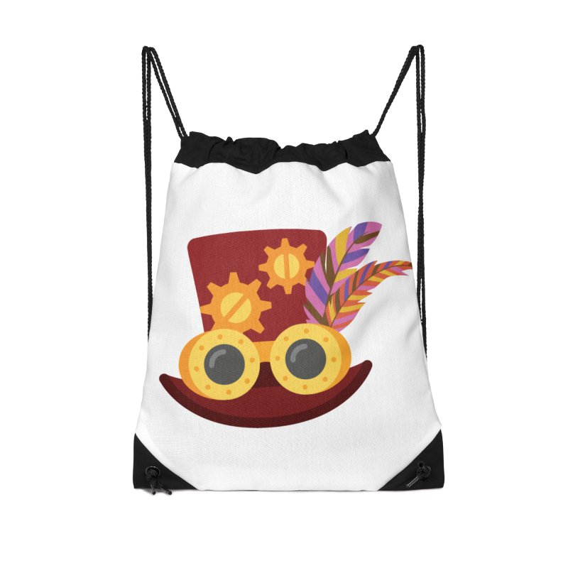 Steampunk Engineer Logo Accessories Drawstring Bag Bag by SteampunkEngineer's Shop