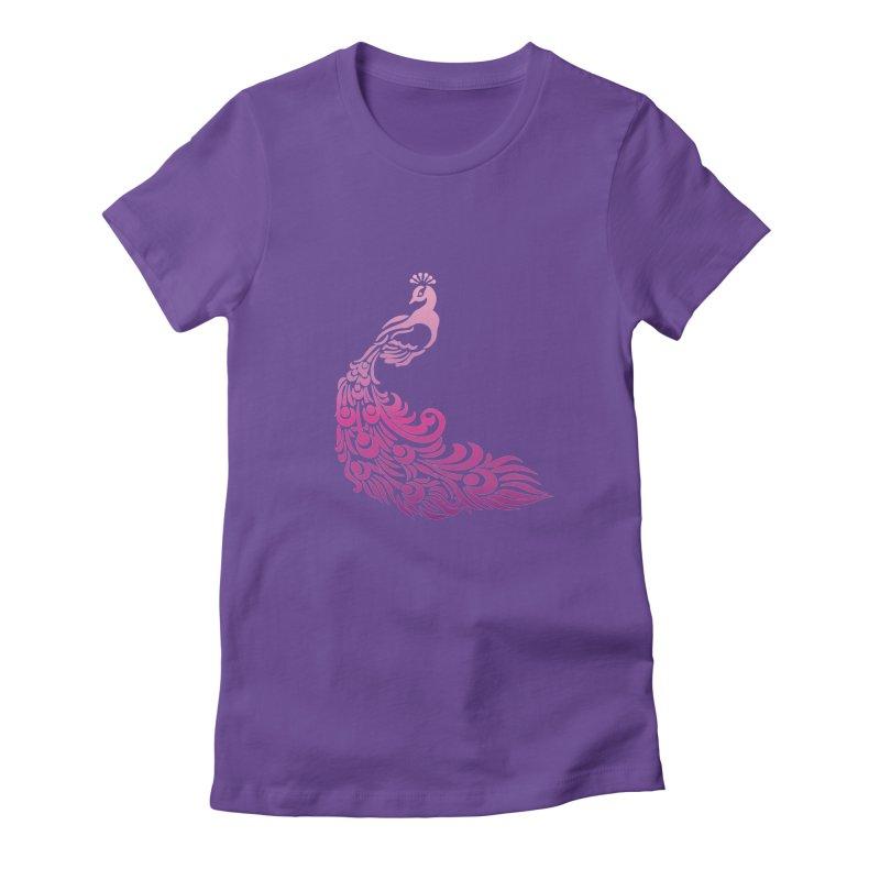 Purple Peacock Women's T-Shirt by SteampunkEngineer's Shop