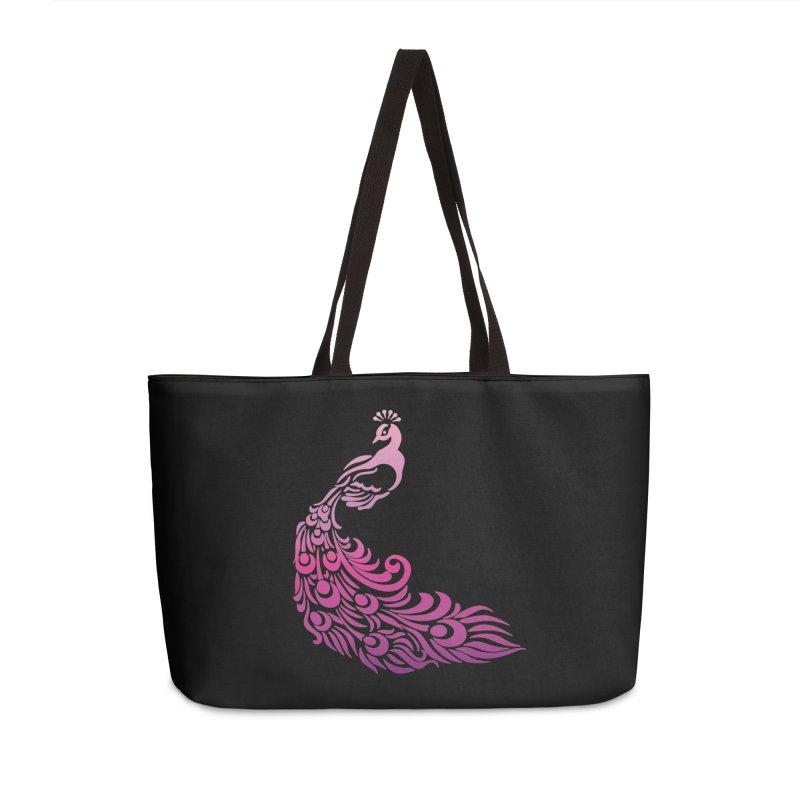 Purple Peacock Accessories Weekender Bag Bag by SteampunkEngineer's Shop