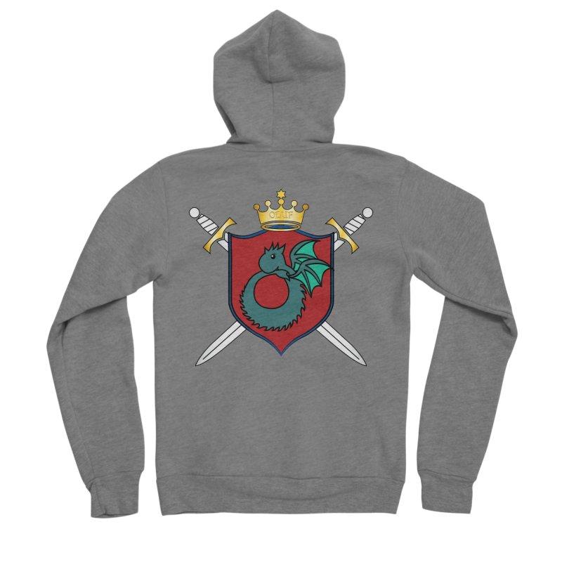 OLUF Coat of Arms - No Banner and Shoes Men's Sponge Fleece Zip-Up Hoody by SteampunkEngineer's Shop
