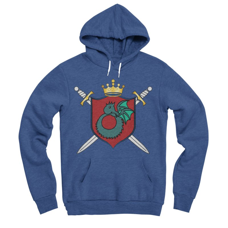 OLUF Coat of Arms - No Banner and Shoes Men's Sponge Fleece Pullover Hoody by SteampunkEngineer's Shop