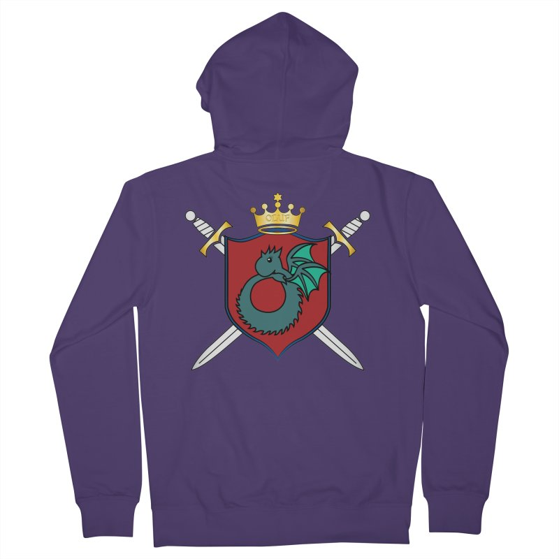 OLUF Coat of Arms - No Banner and Shoes Women's Zip-Up Hoody by SteampunkEngineer's Shop