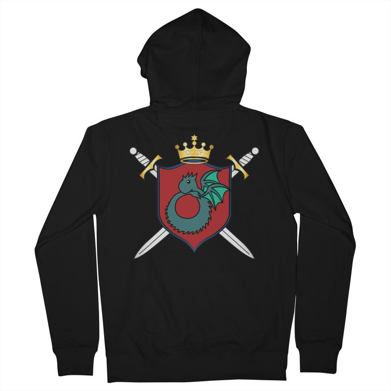 OLUF Coat of Arms - No Banner and Shoes Women's French Terry Zip-Up Hoody by SteampunkEngineer's Shop