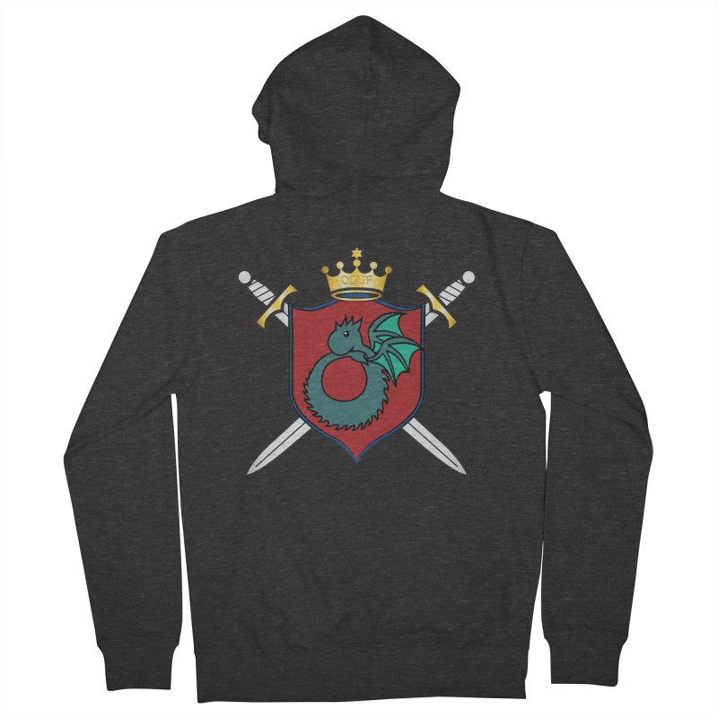 OLUF Coat of Arms - No Banner and Shoes Men's French Terry Zip-Up Hoody by SteampunkEngineer's Shop