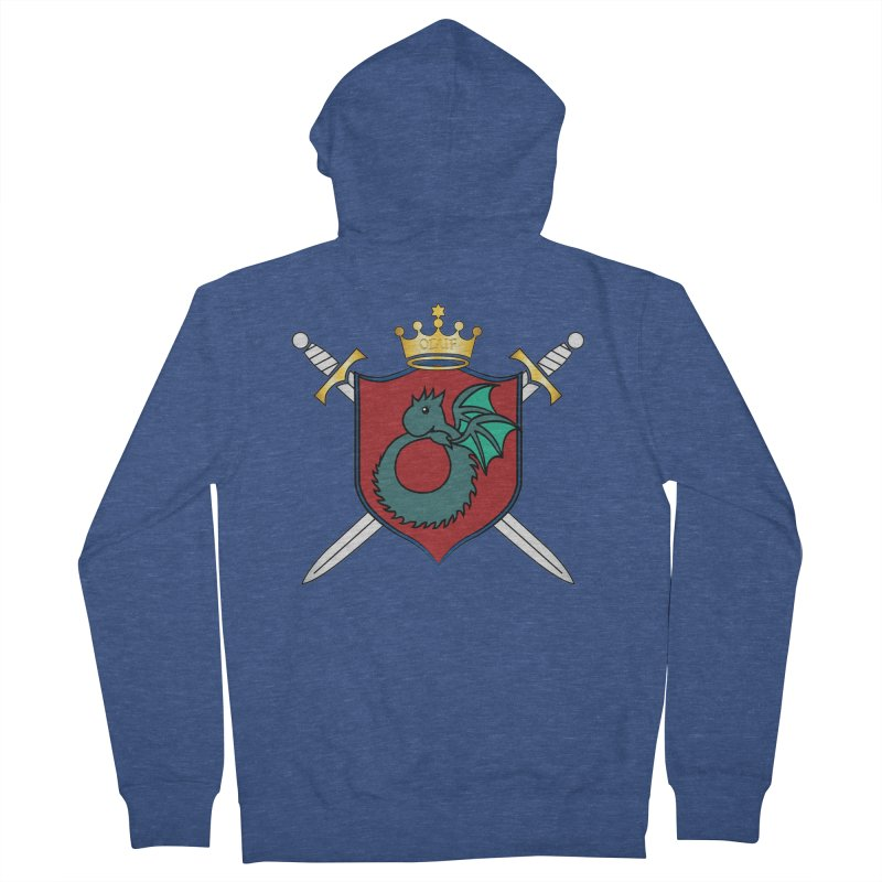 OLUF Coat of Arms - No Banner and Shoes Men's Zip-Up Hoody by SteampunkEngineer's Shop
