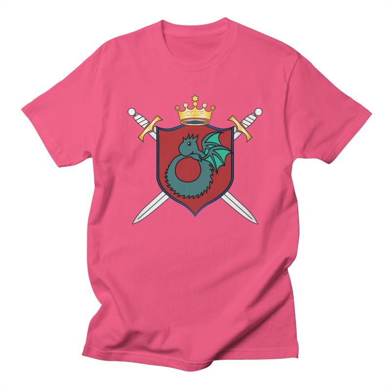 OLUF Coat of Arms - No Banner and Shoes Men's T-Shirt by SteampunkEngineer's Shop