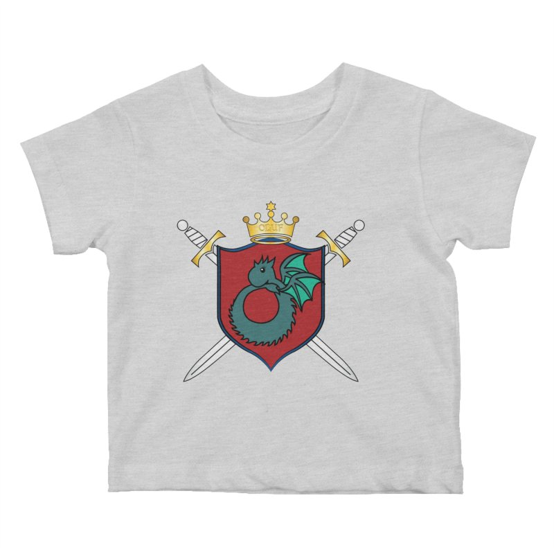 OLUF Coat of Arms - No Banner and Shoes Kids Baby T-Shirt by SteampunkEngineer's Shop