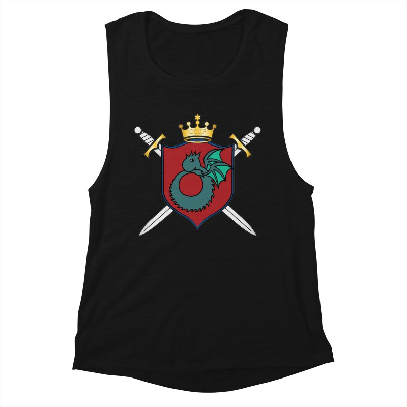 OLUF Coat of Arms - No Banner and Shoes Women's Muscle Tank by SteampunkEngineer's Shop