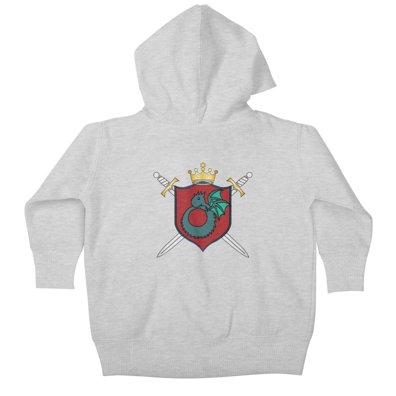 OLUF Coat of Arms - No Banner and Shoes Kids Baby Zip-Up Hoody by SteampunkEngineer's Shop