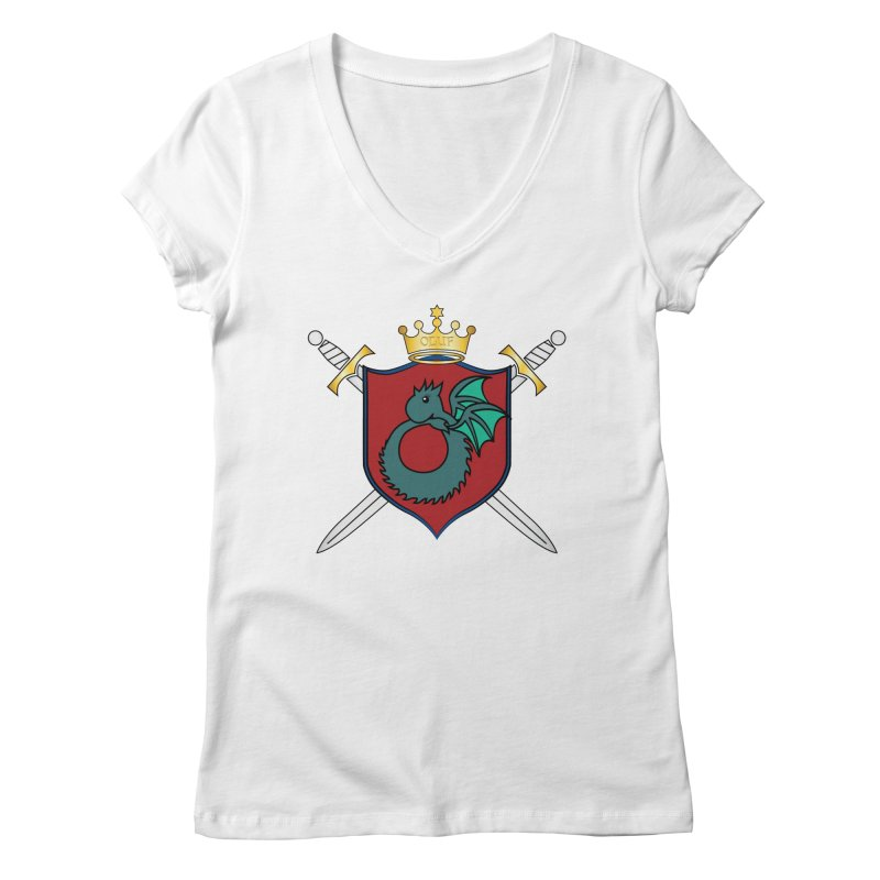 OLUF Coat of Arms - No Banner and Shoes Women's Regular V-Neck by SteampunkEngineer's Shop