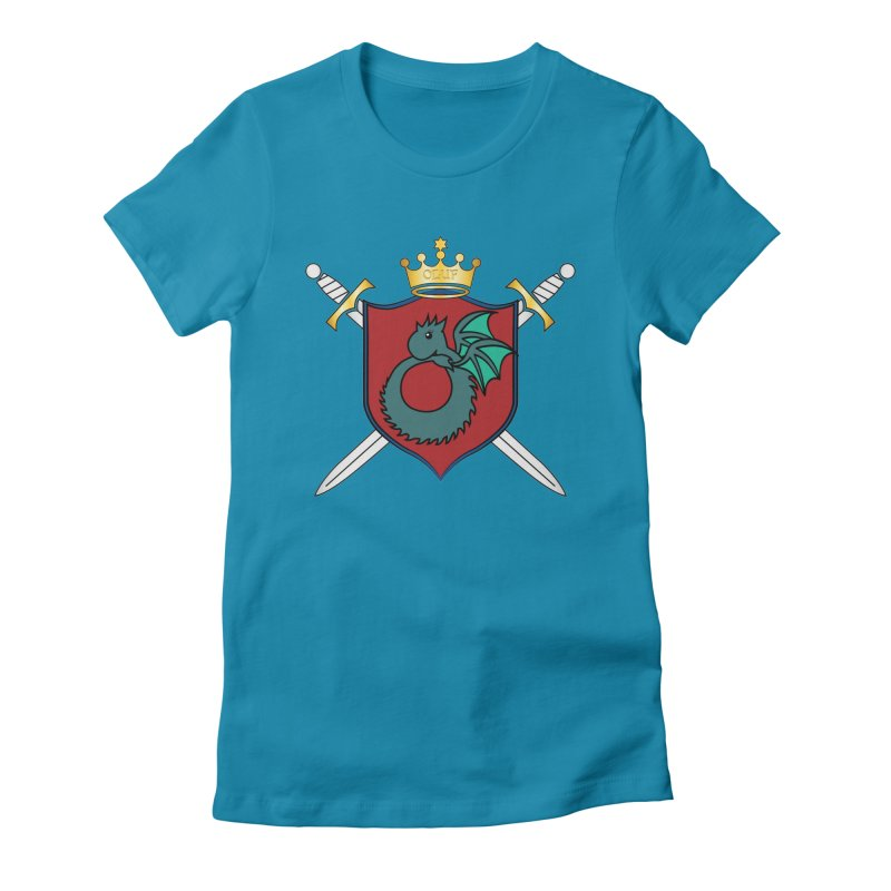 OLUF Coat of Arms - No Banner and Shoes Women's Fitted T-Shirt by SteampunkEngineer's Shop
