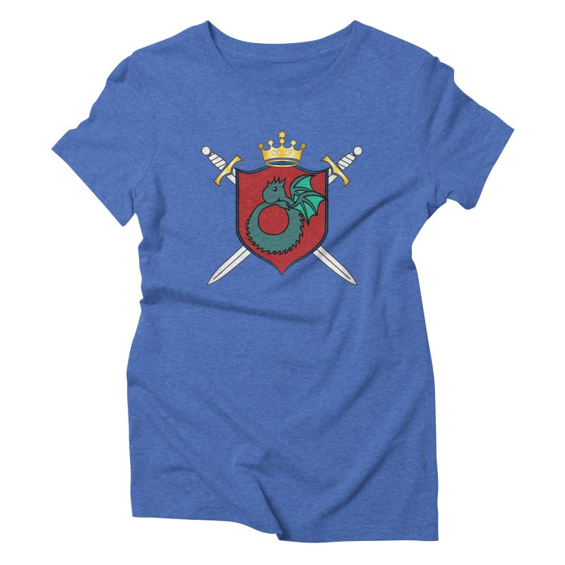 OLUF Coat of Arms - No Banner and Shoes Women's Triblend T-Shirt by SteampunkEngineer's Shop