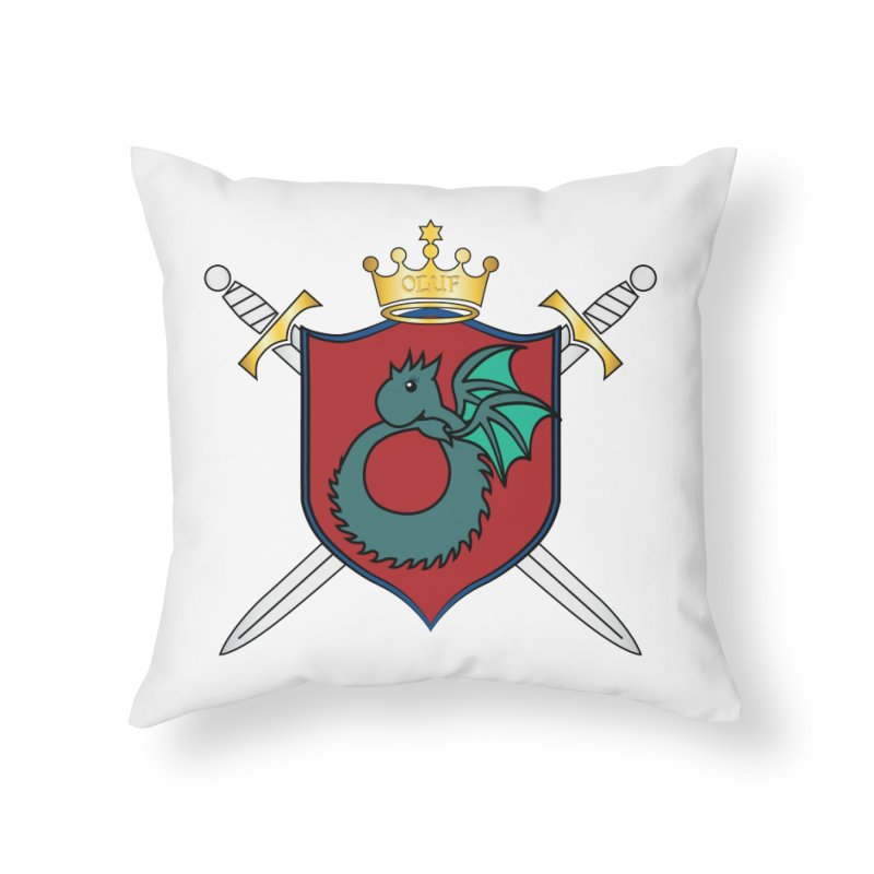 OLUF Coat of Arms - No Banner and Shoes Home Throw Pillow by SteampunkEngineer's Shop