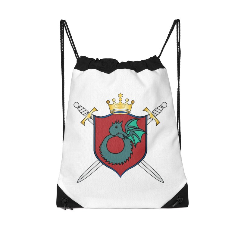 OLUF Coat of Arms - No Banner and Shoes Accessories Drawstring Bag Bag by SteampunkEngineer's Shop