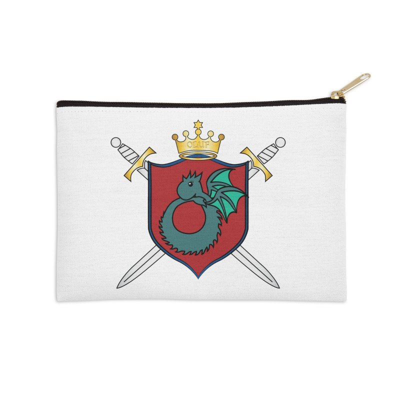 OLUF Coat of Arms - No Banner and Shoes Accessories Zip Pouch by SteampunkEngineer's Shop