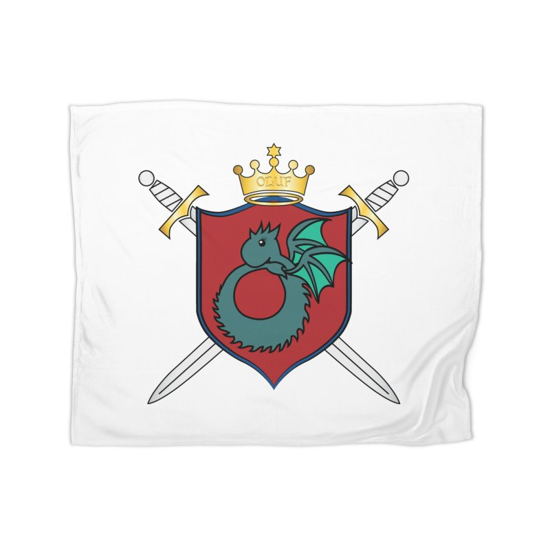 OLUF Coat of Arms - No Banner and Shoes Home Blanket by SteampunkEngineer's Shop