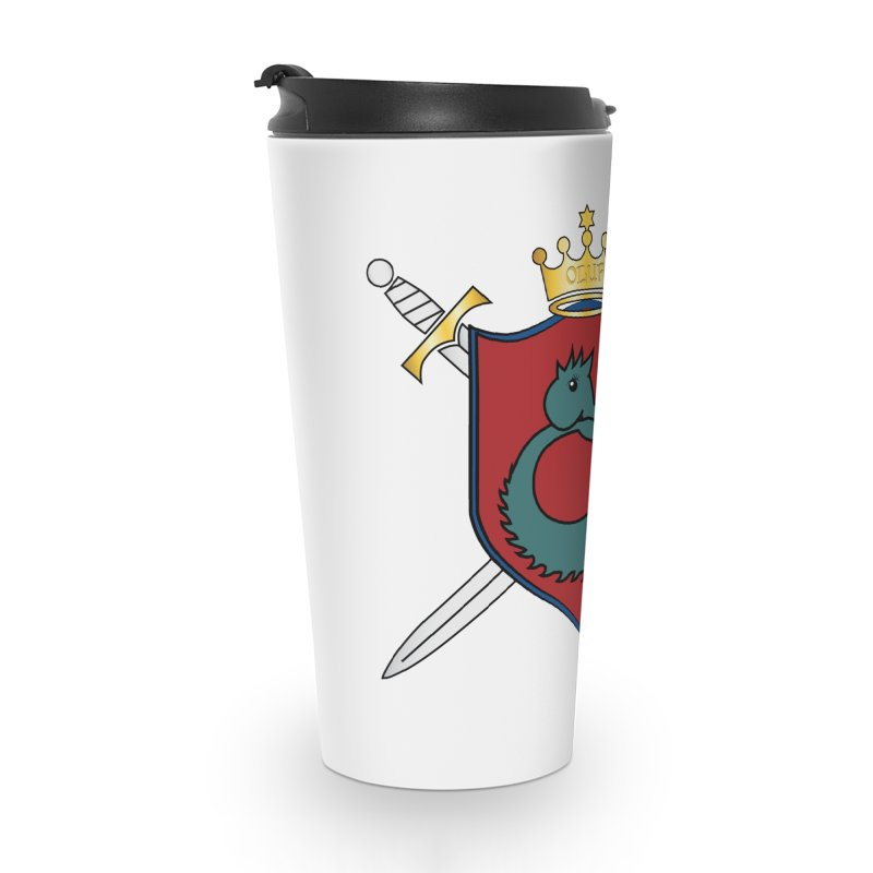OLUF Coat of Arms - No Banner and Shoes Accessories Travel Mug by SteampunkEngineer's Shop