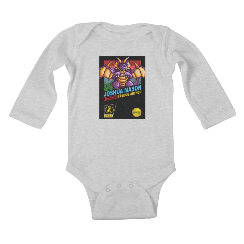 Joshua Mason, Famous Author Kids Baby Longsleeve Bodysuit by steamwhistlealley's Artist Shop