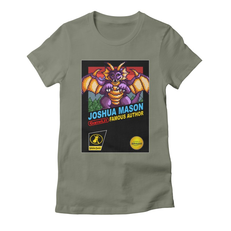 Joshua Mason, Famous Author Women's Fitted T-Shirt by steamwhistlealley's Artist Shop