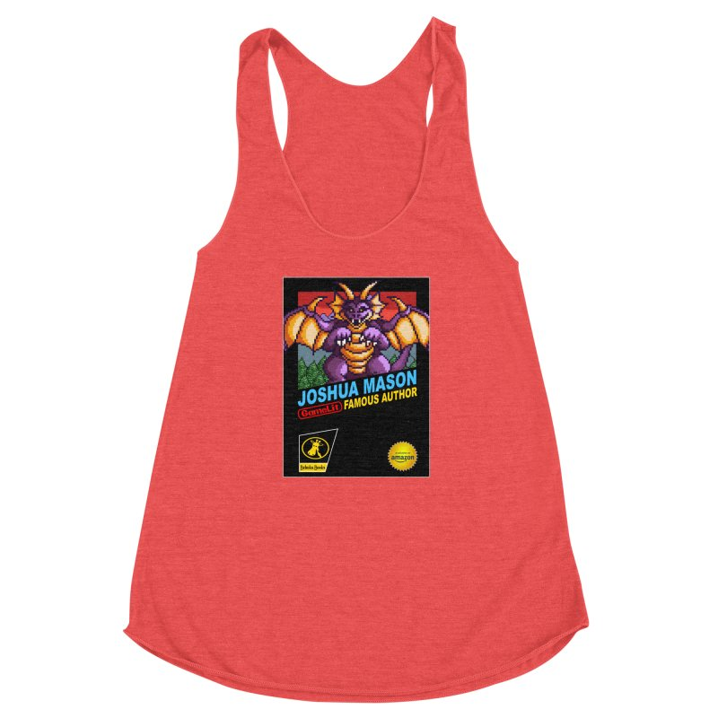Joshua Mason, Famous Author Women's Racerback Triblend Tank by steamwhistlealley's Artist Shop