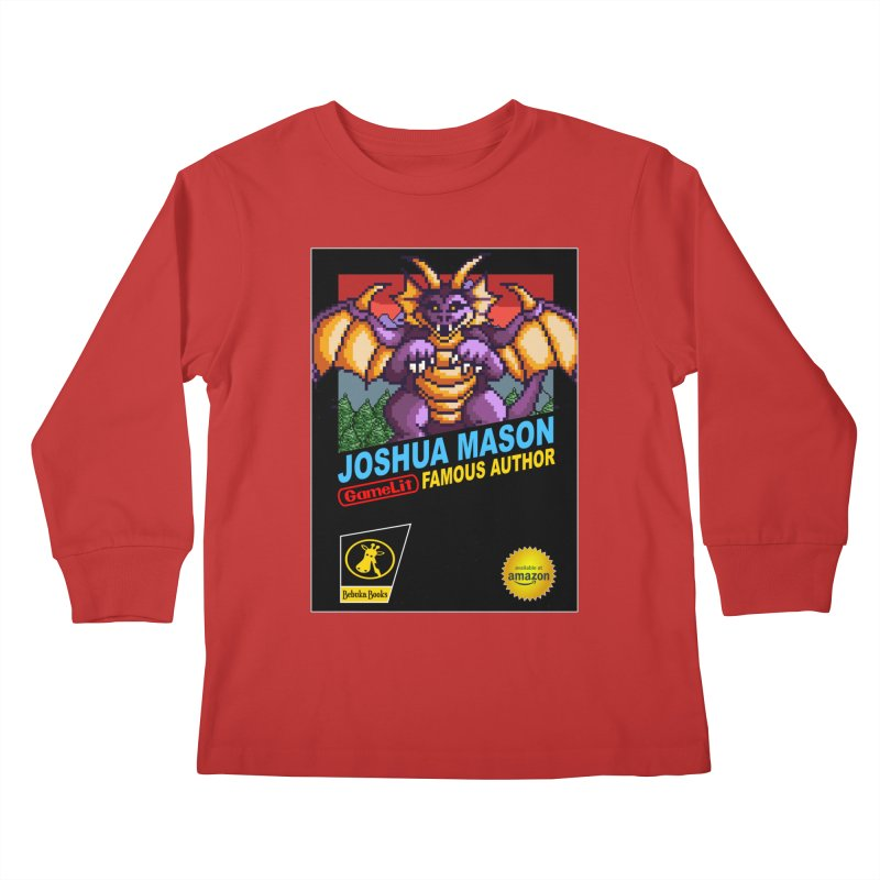 Joshua Mason, Famous Author Kids Longsleeve T-Shirt by steamwhistlealley's Artist Shop