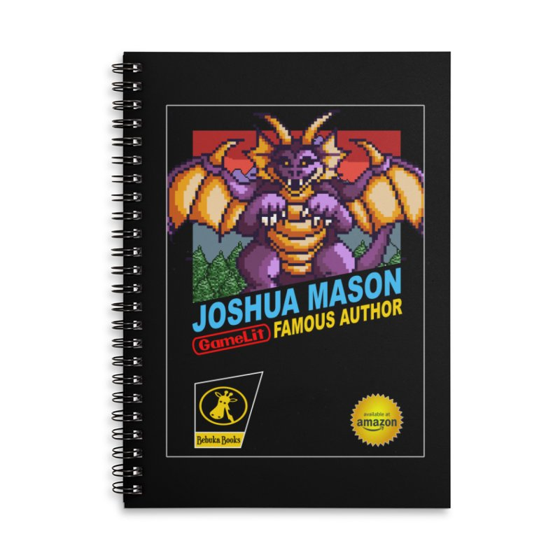 Joshua Mason, Famous Author Accessories Lined Spiral Notebook by steamwhistlealley's Artist Shop