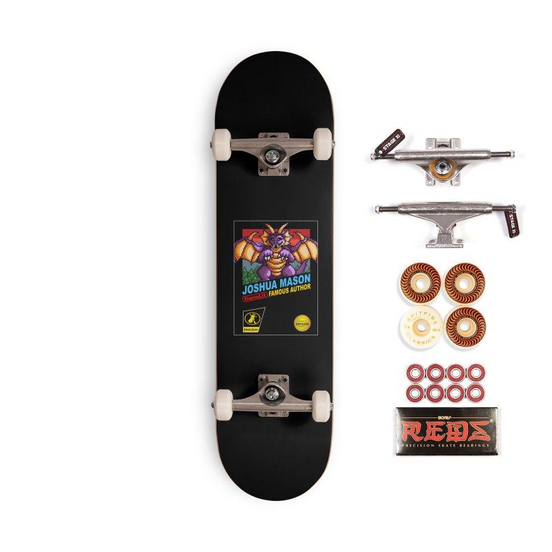 Joshua Mason, Famous Author Accessories Skateboard by steamwhistlealley's Artist Shop